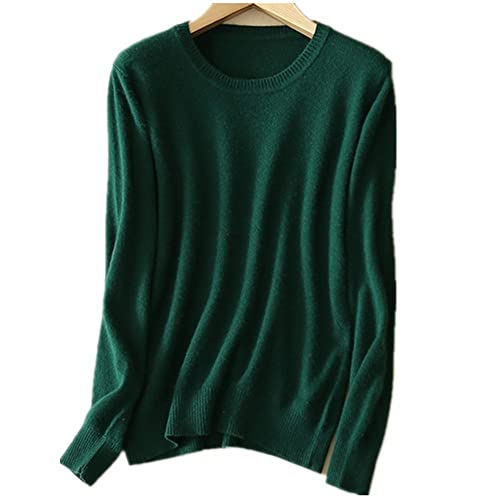 MMYOMI Womens Ladies Round Neck Cashmere Knitwear Long Sleeve Pullover  Blouse Jumper Tops Knitted Sweater bcb9fcc67