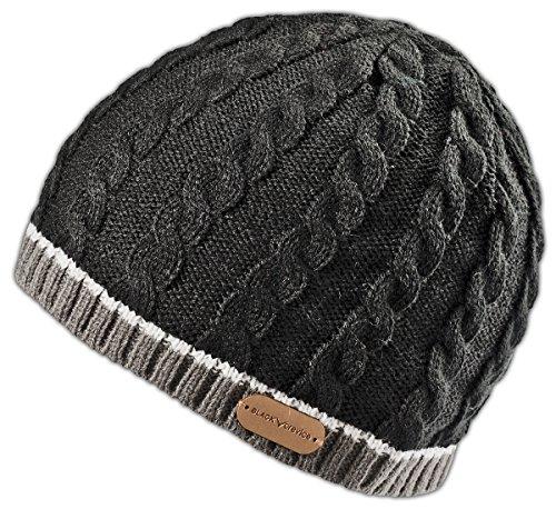 Black Crevice Erwachsene Strickmütze, Schwarz, One size