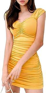[アイラカリラ] アリーヌ ボディコン ミニ ワンピース カラフル ノースリーブ クラブ パーティー ドレス レディース