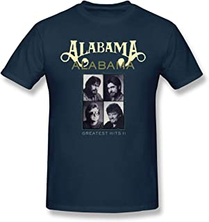 Mens Alabama Greatest Hits Leisure T Shirt Navy L with Short Sleeve