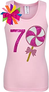 Little Girls' 7th Birthday Giant Lollipop Candy Shirt