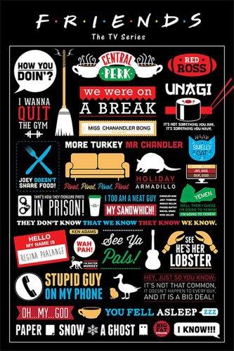 Friends - Infographic - Poster - Filmposter - Grösse 61x91,5 cm