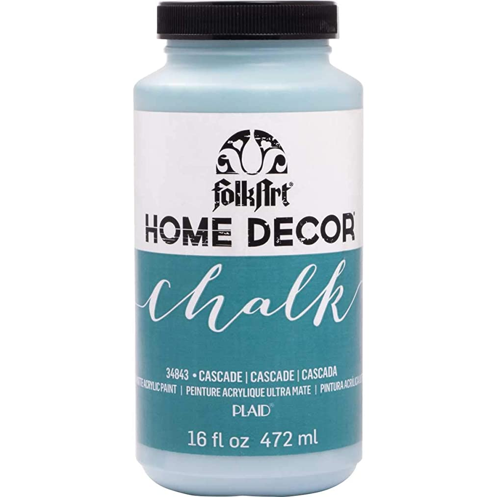 FolkArt 34843 Home Decor Chalk Furniture & Craft Paint in Assorted Colors, 16 Ounce, Cascade