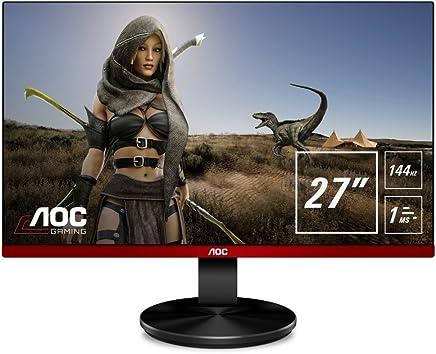 "AOC G2790PX 27"" Widescreen TN LED Black/Red Multimedia Monitor (1920x1080/1ms/VGA/HDMI/DisplayPort)"