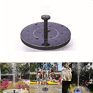 Fountain Pump Kit for Small Pond 1200mAh Circle Solar Water Pump with 6 Nozzles Garden Ecisi Solar Fountain 3W Floating Fountain Built-in Battery Fish Tank