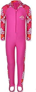 1PCS Girls Long Sleeve Swimsuit UPF 50+ Rashguard Sunsuits with Zip