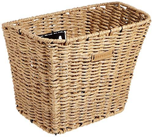 Basil Unisex– Erwachsene Bremen Rattan Look Fm Fahrradkorb, Seagrass, 26 cm x 35 cm x 27 cm