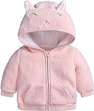 Chaqueta de forro polar para bebé, para niños, niñas, con orejas, con forro, con cremallera, abrigo, abrigo, abrigo, abrigo, abrigo, otoño cálido