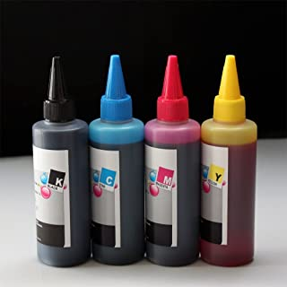 400 ml PrintPayLess Brand UV Resistant Bulk Ink for Epson 126, T126(non-OEM) for CIS/CISS or refillable cartridges for Epson Stylus NX330, NX430; WorkForce 60, WorkForce 435, WorkForce 545, WorkForce 630, 633, 635, 645, WorkForce 840, 845, WF-7010, WF-7510, WF-7520, - Black, Cyan, Magenta, Yellow - Not Universal Ink