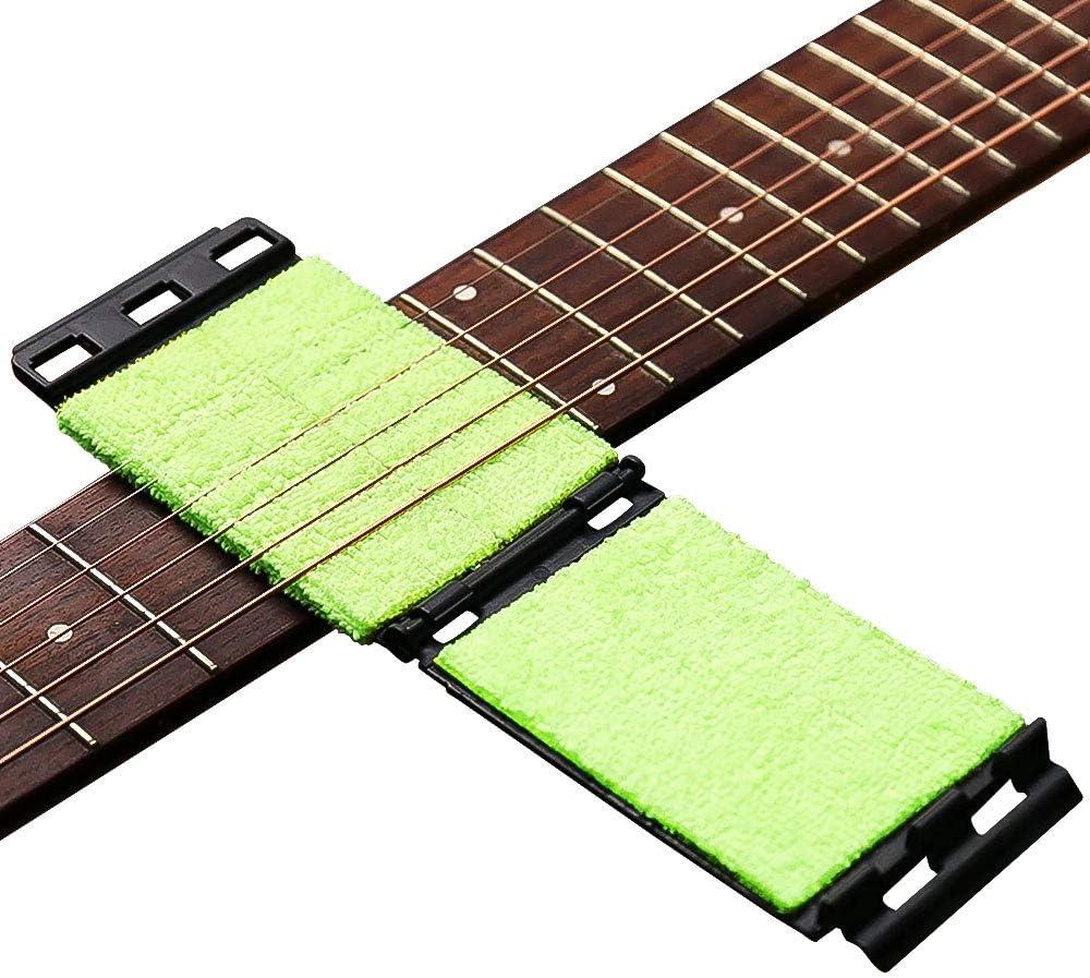 DELSEN Limpiador de cuerdas para guitarra, mástil de guitarra, herramienta para el cuidado de guitarra, bajo, mandolina, ukelele