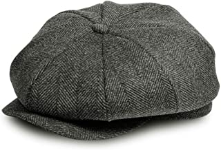 AYAMAYA Flat Cap, Classic 'Shelby' Newsboy Cap Gatsby Baker Boy Hat Tweed for Men Women
