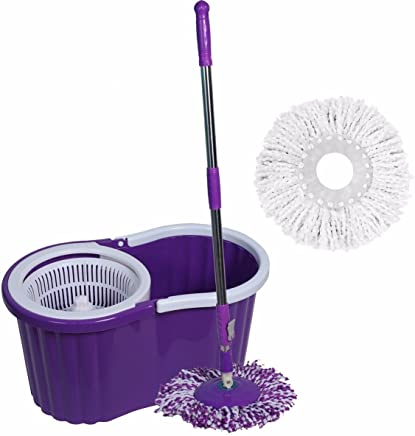 Kevay P319 SMARTLY 360° Spin Mop and Bucket with 2 Refills (Purple)