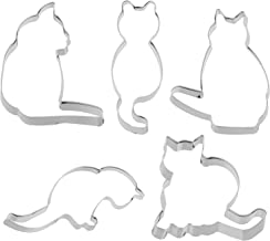 YARNOW 5pcs Stainless Steel Cookie Cutter Set Funny DIY Mold Animals Cat Cookie Mold Cutting Mold Cartoon Baking Mold Fond...