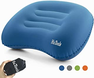 HuTools Inflatable Camping Pillow Backpacking Pillow Lightweight Travel Air Pillow Ultralight Ergonomic Pillow Portable fo...
