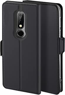 Libra_J Case for Nokia 6.1 plus Case, [Stand Function] [Card Slot] [Magnet] [Anti-Slip] Premium Leather Flip Case Cover fo...