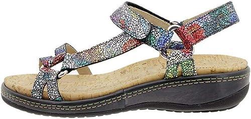 Zapato Cómodo damen Sandalia Plantilla Extraíble 180913 PieSanto