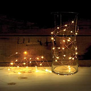 2 Sets of ATTAV LED String Lights with Timer, Battery Operated 20 Micro LEDs on 7 Feet Ultra Thin Copper Wire, Starry String Lights Fairy Lights for Bedroom Christmas Party Wedding Dancing(Warm White)