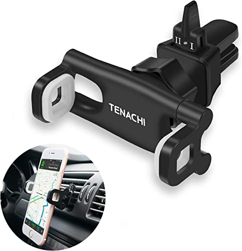 TENACHI Car Air Vent Cell Phone Holder Mount Universal Mobile Phone Smartphone Holder Compatible with iPhone 11 Pro XS Max XR X 8 8P 7 7P 6S 6P 6 Samsung Galaxy S10 S9 S8+ S7 S6 Nexus LG Sony