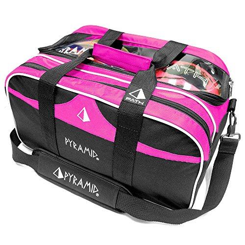 PATH Double Tote Plus klar Top Bowling Bag, hot pink