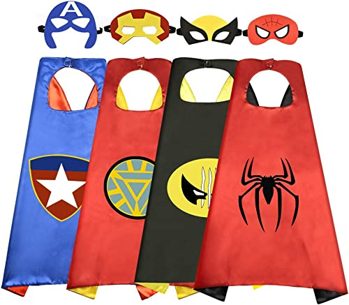 Roko Toys for 3-10 Year Old Boys, Superhero Capes for Kids 3-10 Year Old Boy Gifts Boys Cartoon Dress up Costumes Par...