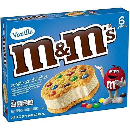 M&M'S Ice Cream Cookie Sandwich 6-Pack (4 Count)