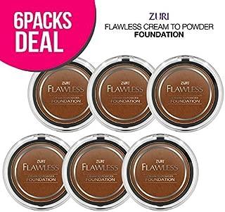 Zuri Flawless Cream to Powder Foundation - Espresso (Pack of 6)