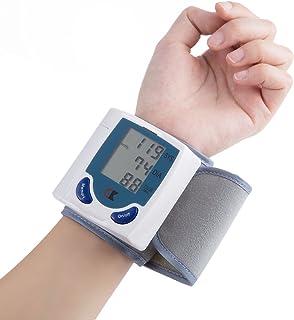 SISHUINIANHUA Hogar médico Arterial de muñeca Presión Digital LCD Monitor tonómetro automática esfigmomanómetro tensiómetro BP Tasa pulsómetro
