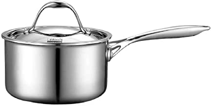 Cooks Standard NC-00217 Lid 1.5-Quart Multi-Ply Clad Stainless Steel Saucepan, 1-1/2-Quart, Silver