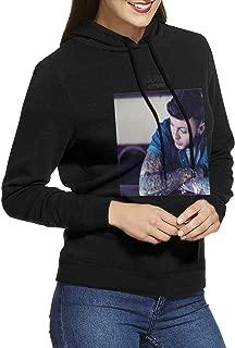 James Arthur James Arthur Women Long Sleeve Casual Hoodie Sweatshirt with Drawstring Black