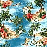 Prestige P0738 Aloha Hawaii-Print Baumwolle Popeline Stoff
