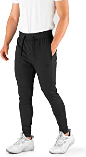 Contour Athletics Men's Joggers Hydrafit Track Pants Men's Sweatpants Active Sports Running Workout Pant Zipper Pockets