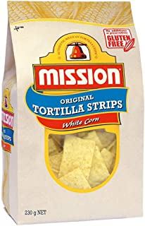 Mission Original Tortilla Strips, White Corn Chips, 230g