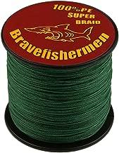 Bravefishermen Super Strong PE Braided Fishing Line Dark Green