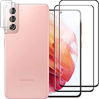 Reshias - Protector de lente de cámara para Samsung Galaxy S21 (4 en 1) HD transparente, vidrio templado 9H, resistente a ...
