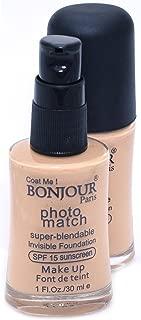 Bonjour Paris Photo Match Invisible Foundation, Wheatish To Dusky, 30ml