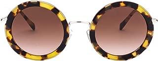 Luxury Fashion   Miu Miu Womens MU59US7S06S148 Brown Sunglasses   Fall Winter 19
