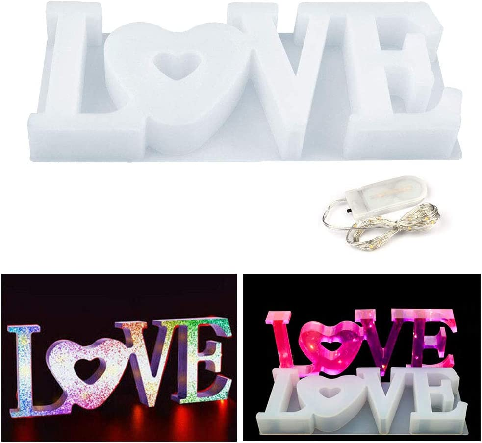 MEMOVAN Limited time cheap sale Love Super popular specialty store Silicone Mold Resin Sign Word
