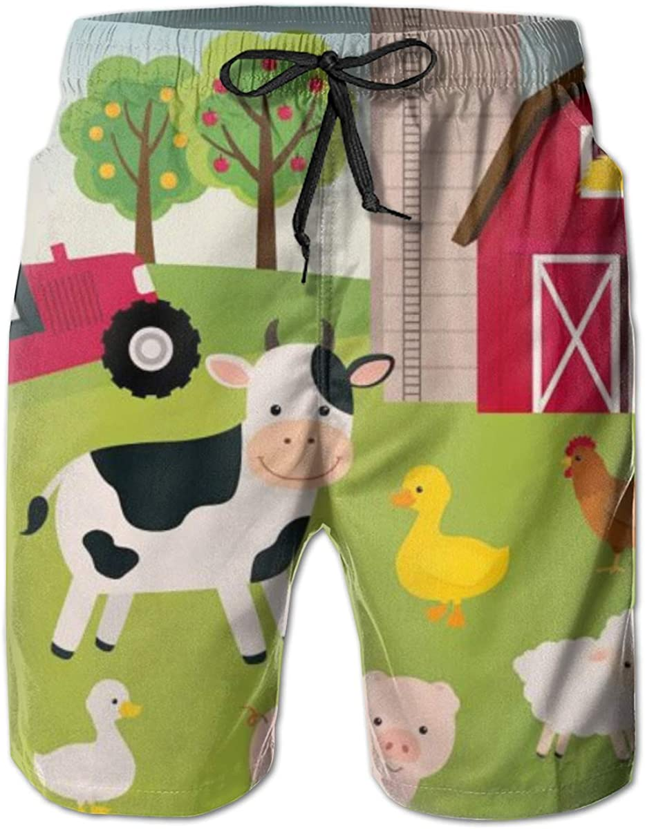 Mens Farm Animals Quick Dry Short Sale SALE% OFF Surf Slim Trunk Fit Beac Swim Max 67% OFF