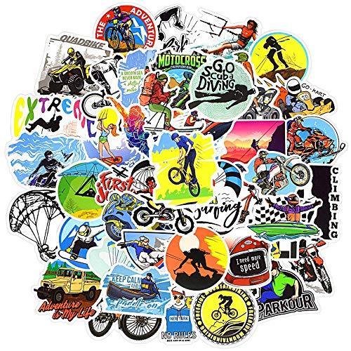 RUIRUI50 PCS Sport Stickers Graffiti Cool Adventure Boys Decals Skateboard Laptop Car Bike Helmet Motocross Sticker Waterproof