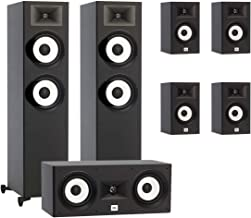 JBL 7.0 System with 2 JBL Stage A190 Floorstanding Speakers, 1 JBL Stage A125C Center Speaker, 4 JBL Stage A120 Bookshelf Speakers