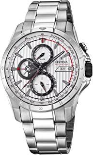 Festina F16995/1 For Men - Analog Casual Watch, Stainless Steel