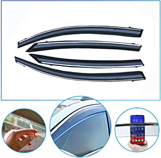 4 Pcs/Set Tape-On Outside-Mount Side Window Wind Deflectors Rain Guard for Honda ENVIX 2019 Front Rear Car Rooftop Visors Accessories & Body Parts