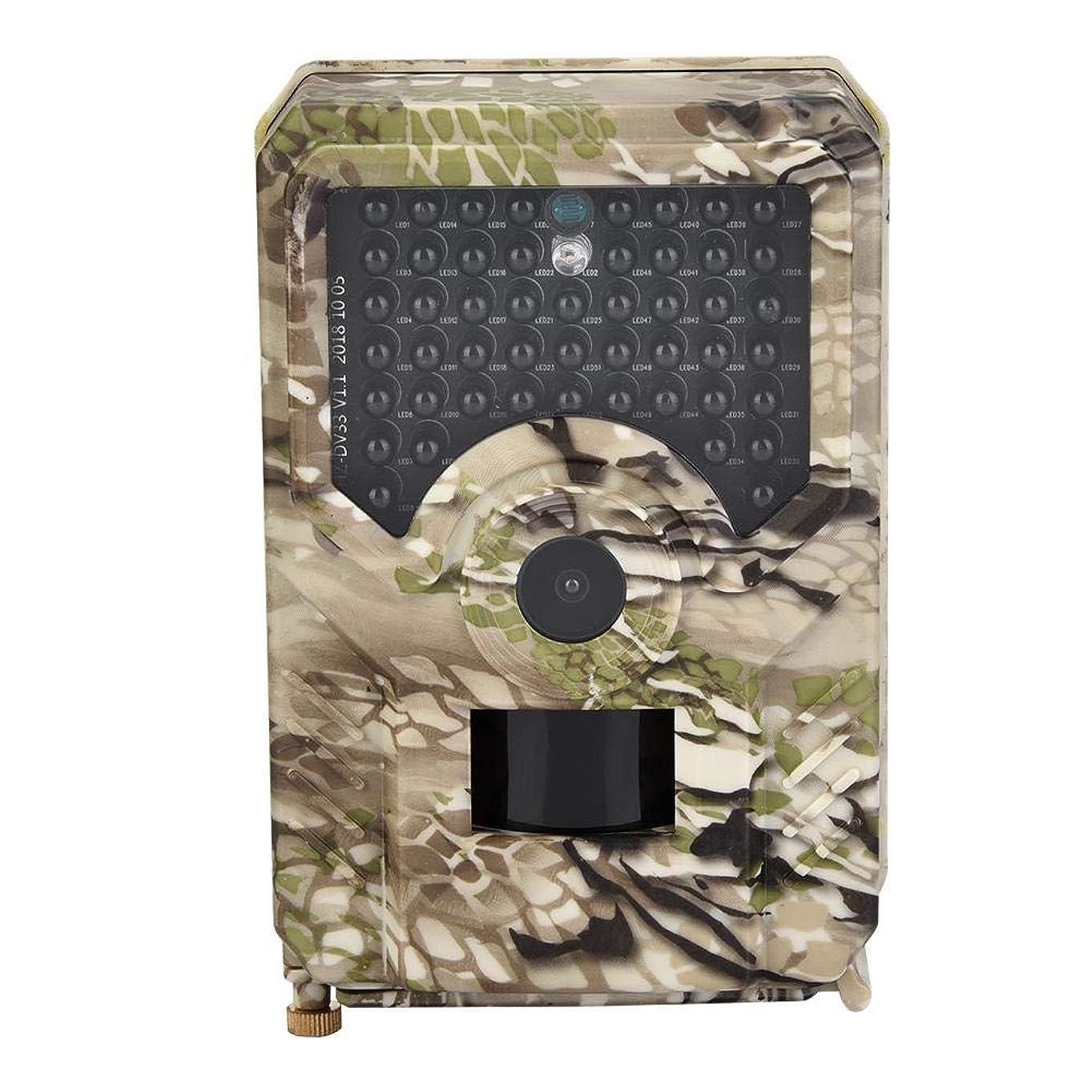 適応的殺すラメトレイルカメラ 監視カメラ狩猟モニターカメラ 0.8S高速トリガー 1080P 49個赤外線LEDライト 15m夜視範囲 アクセサリー付き 100°広角レンズ IP56防水 防犯カメラ