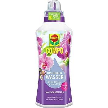Compo Orchideen Wasser, Anwendungsfertig, Nährstoffreich und kaliumarm, 1 Liter