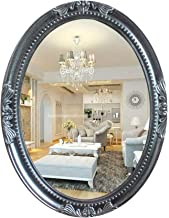 YUNTAO Simple Bright Mirror Wall Mirror Decorative Oval, Small White Oval Vintage Wall Mirror Ornate Frame Hanging Beveled...