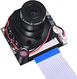 Pi 3 B + módulo de cámara, cámara web de 1080p HD 5 MP OV5647 cámara de corte IR con interruptor automático de visión diur...