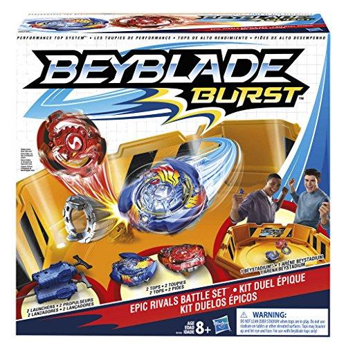Hasbro Beyblade-B9498EU6 Burst Epic Battle Set, Colore Giallo, B9498EU6