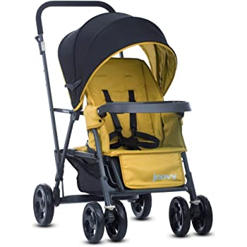 Joovy Caboose Graphite Stroller, Stand on Tandem, Sit and Stand, Amber