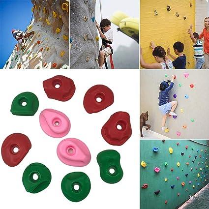 CenYC Juego de 10 soportes para escalada en roca, para ...