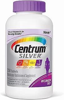 Centrum Silver Complete Benefits for Women Multivitamin - 250 Tablets